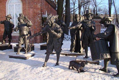 The Palace Ensemble Tsarskoe Selo, Russia, Sculpture