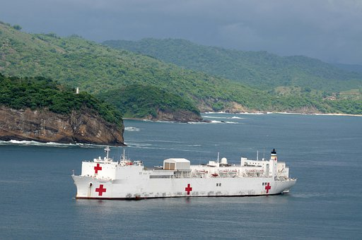 San Juan Del Sur, Nicaragua, Ship, Hospital, Sea, Ocean