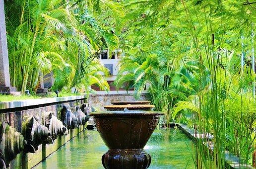 Bali, Ubud, Fountains, Indonesia, Statue, Stone