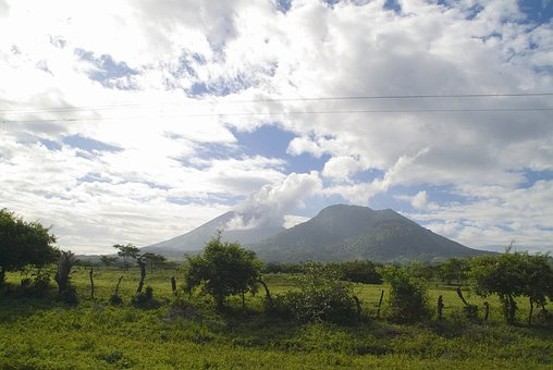 Nicaragua, Sky, Clouds, Landscape, Mountains, Trees