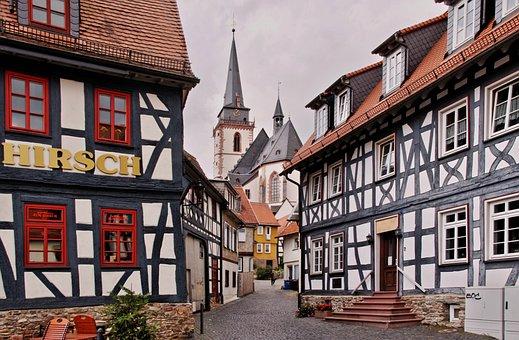 Fachwerkhäuser, Oberursel, Truss, Old Town