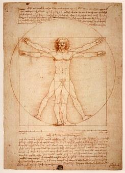 Leonardo Da Vinci, Vitruvian Man, Uomo Vitruviano, 1492