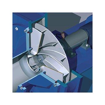Compressor, Turbo, Fan, Technical Illustration, 3d, Cad