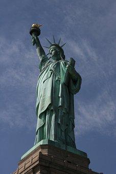 Statue, Freedom, America, Ellis Island