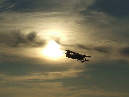 Aircraft, An 2, An Overflight, Over In Miskolc, Sunset