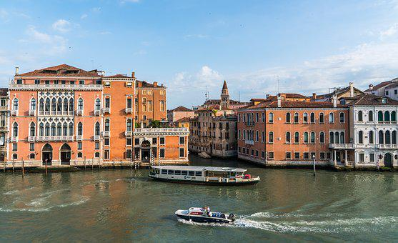 Venice, Italy, Outdoor, Scenic, Architecture, Boats