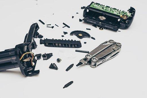 Bits, Pieces, Broken, Dismantled, Pocket Knife