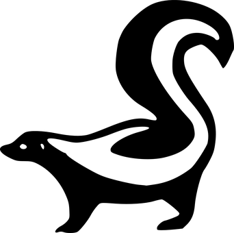 Skunk, Animal, Black, Silhouette