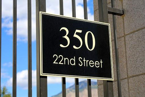 Street, Sign, Address, Location, Destination, 350, 22