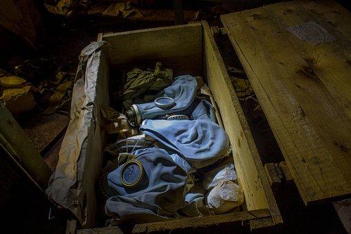 Gas Masks, Box, Bunker, The Abandoned, Gp-5