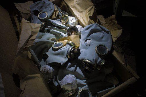 Gas Mask, Gp-5 M, Box, The Abandoned, Bunker