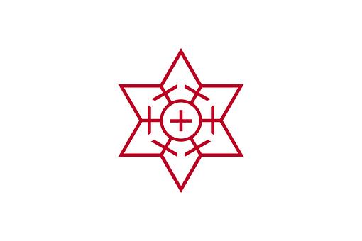 Flag, Fukuoka, Japan, Japanese, Asian, Asia, Hex, Six