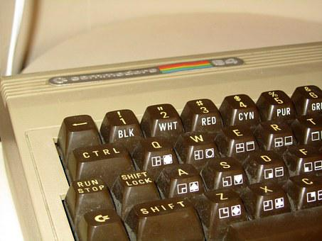 Commodore, C 64, Computer, Keyboard