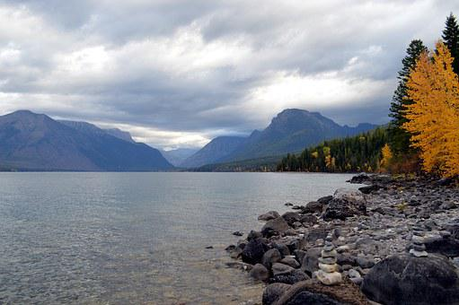 Montana, Lake, Glacier, National, Park, National Park