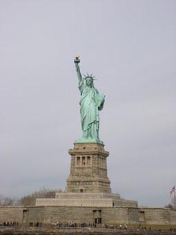 New York, Statute Of Liberty, Ellis, Liberty, Landmark
