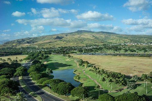 Hawaii, Oahu, Ko Olina, Landscape, Mountains