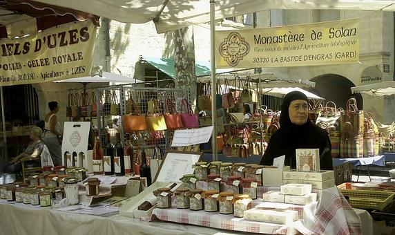 Market, úzes, Southern France, Jam, Marmalade, The Nun