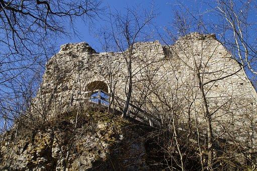 Rusenschloss, Ruin, Castle, Wall, Masonry, Sublime, Sky