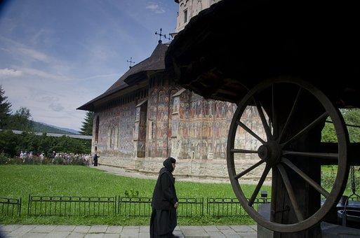 Monastery, Moldovita, Romania, Woman, Sister, Nun
