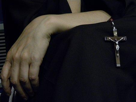 Faith, Pray, Prayer, Cross, Nun