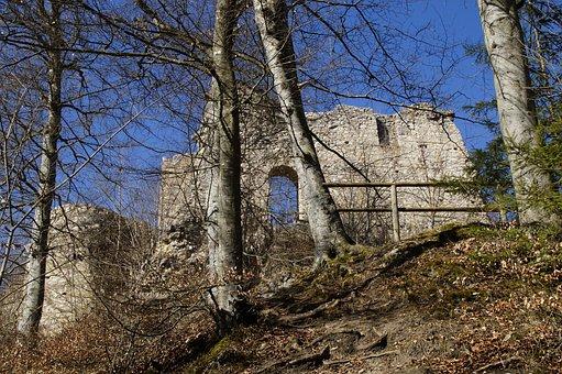 Rusenschloss, Ruin, Gerhausen, Blaubeuren, Blue Valley