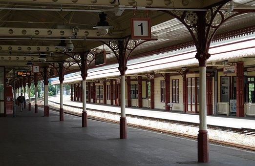 Train, Tom, Old, Romance, Scotland, Station, Empty