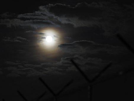 Moon, Night, Glow, Skt, Clouds, Dark, Light