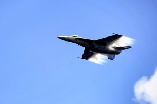 Plane, Jet, U S Navy, F A-18c, Sky, Clouds, Flight