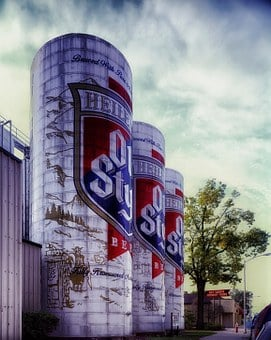 Old Style Beer, Brewery, Storage, Containers, Vats, Sky