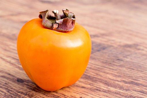 Food, Kaki Fruit, Kaki, Fruit, Fresh, Sweet, Healthy