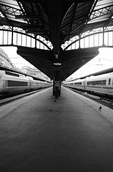 Gare De L'est, Train, Station, Travel, Wharf, Paris