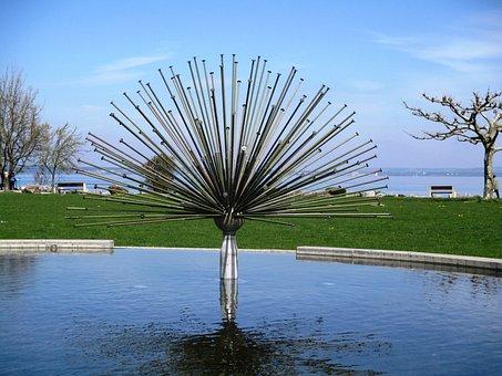 Fountain, Asco Fountain, Water, Water Feature