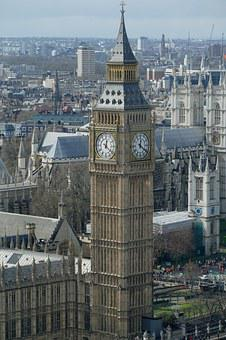 Big Ben, Elizabeth-tower, Westminster Palace, London