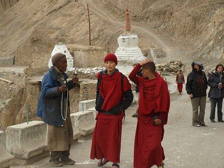 Woman, Nun, India, Ladakh