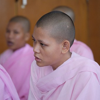 Nunnery, Myanmar, Nun, Woman, Young, Burma