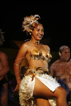 Dancing, Ethnic, Women, Costume, Typical, Rapa Nui