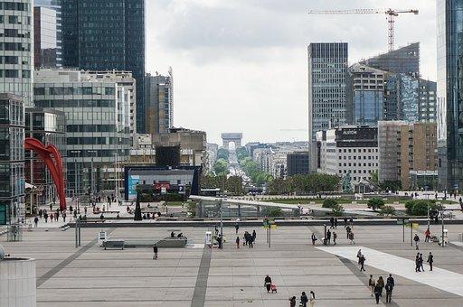 Paris, La Défense, La Defense, Architecture, City View