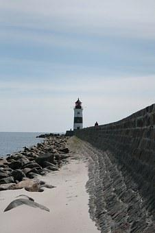 Lighthouse, Schlei, Approximately, Baltic Sea, Maasholm