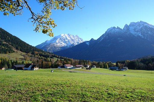 Alpine, Mountains, Autumn, Sunshine, Beauty, Relax