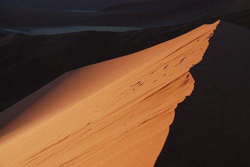 Dune, Sand, Desert, Contrast, Ridge, Africa, Namibia