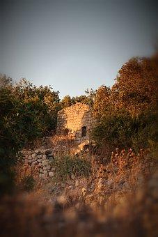 Ramtaniya, Golan Heights, Israel, Deserted Ruins