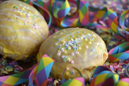 Donut, Streamer, Confetti, Baked Goods, Carnival, Eat