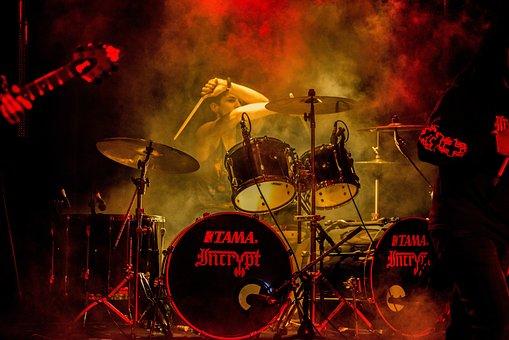 Drummer, Music, Set, Drum, Kit, Band, Beat, Drummers