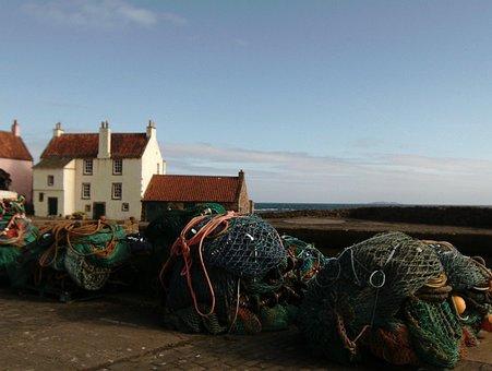 Pittenweem, Fife, Nets, Fishing, Scottish, Harbour