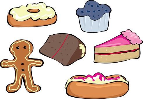 Sweet, Dessert, Food, Set, Items, Gingerbread, Cream