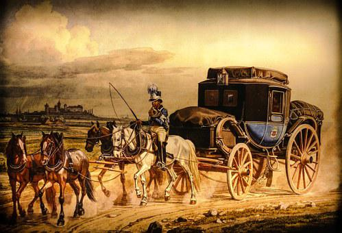 Image, Painting, Nuremberg, Middle Ages, Stagecoach
