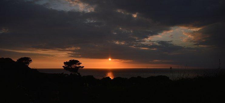 Lee, Devon, Sunset, Water, Sea, Coast, England, Bay, Uk