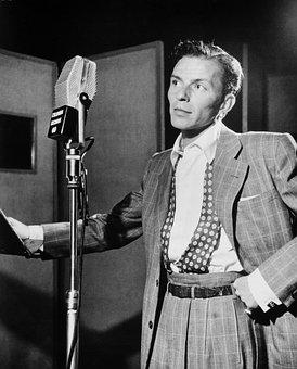 Singer, Frank Sinatra, 1947, Microphone, Recording