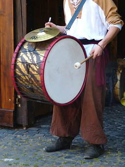 Drummer, Drum, Knight Festival, Middle Ages, Musician
