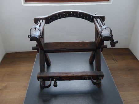 Torture Chair, Instrument Of Torture, Middle Ages, Pink